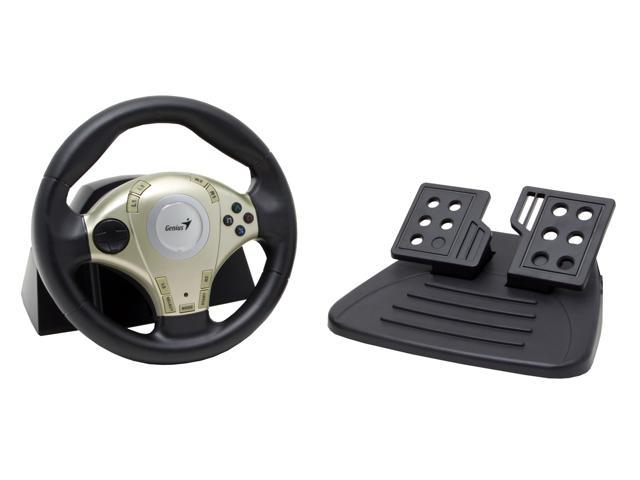 313239b42a1 Genius Twin Wheel F1 - Vibration Feedback Racing Wheel for PS2 & PC with D-