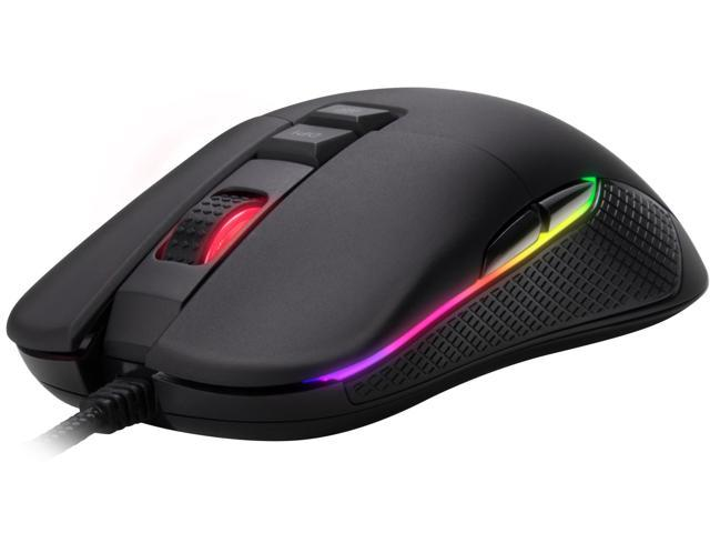 Rosewill Optical Ambidextrous Ergonomic RGB Gaming Mouse w/ 9 Programmable Buttons, 10000 dpi, 12 Backlight Modes - NEON M62
