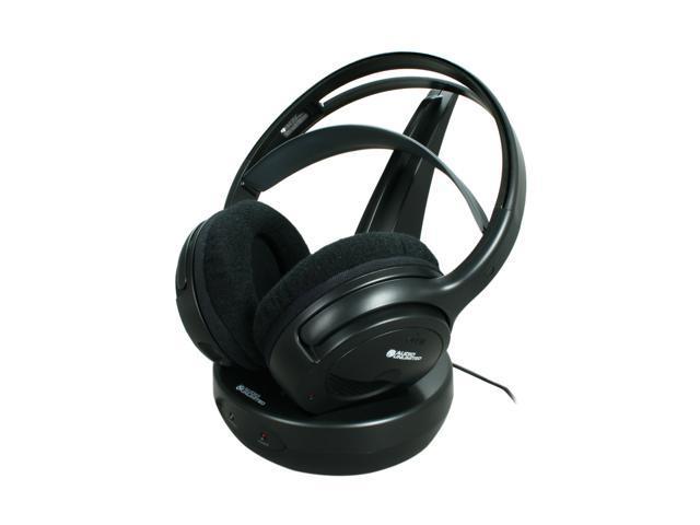 Audio Unlimited Black SPK 9100 Circumaural 900MHz Classic Wireless Stereo Headphone