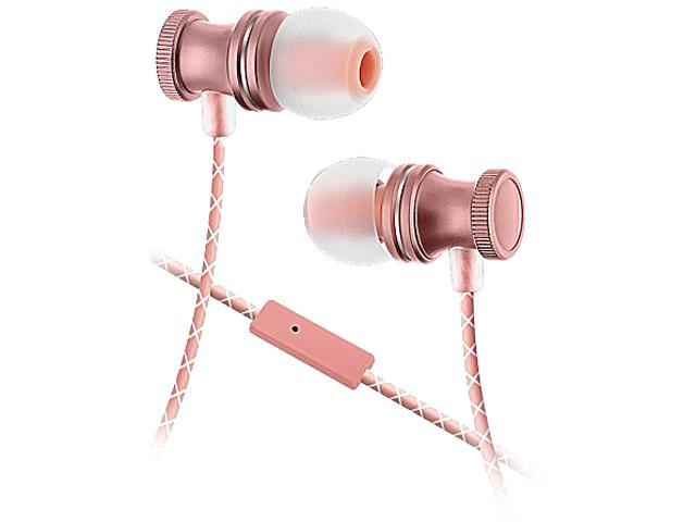 89330457d9a Sentry Rose Gold HB888 3.5mm Connector Metal Stereo Earbuds with Mic