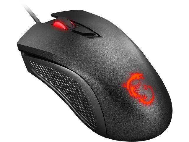 db293aacced MSI Clutch GM10 Wired Optical Gaming Mouse - Black - Newegg.com