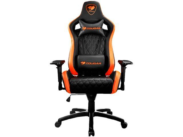 Cougar Armor S (Orange) Luxury Gaming Chair with Breathable Premium PVC Leather and Body-embracing High Back Design