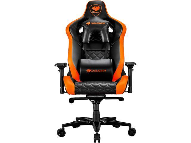 75d199aaea3 Cougar Armor Titan (Orange) Ultimate Gaming Chair with Premium Breathable  PVC Leather