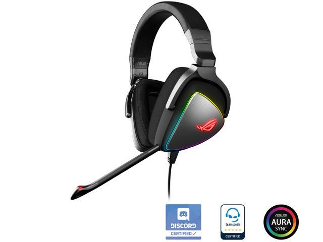 ASUS ROG Delta USB-C Gaming Headset for PC, Mac, Playstation 4, TeamSpeak,  and Discord with Hi-res ESS Quad-DAC, Digital Microphone, and Aura Sync RGB