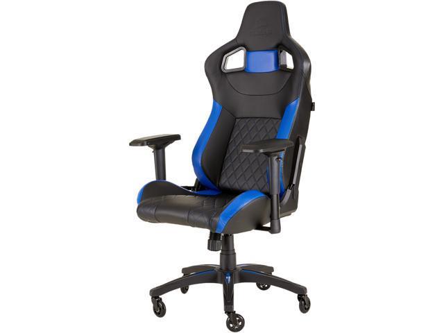 CORSAIR T1 RACE Gaming Chair - Black / Blue  sc 1 st  Newegg.com & CORSAIR T1 RACE Gaming Chair - Black / Blue - Newegg.com
