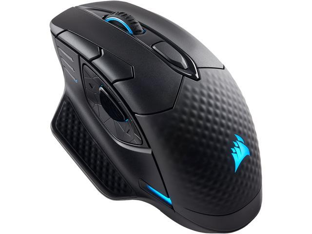 CORSAIR DARK CORE RGB Performance Wired / Wireless Gaming Mouse, Black, Backlit RGB LED, 16000 dpi, Optical