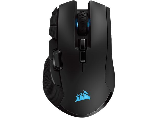 CORSAIR IRONCLAW RGB Wireless Rechargeable Gaming Mouse with SLIPSTREAM WIRELESS Technology, Black, Backlit RGB LED, 18000 dpi, Optical