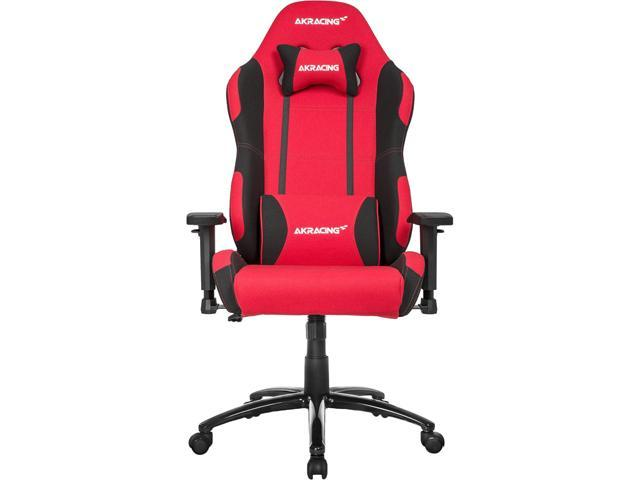 AKRACING Core Series Ex Wide Red/Black Extra Wide Fabric Gaming Chair, 3D