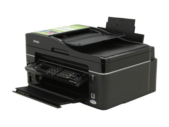 EPSON WorkForce 600 Up to 38 ppm Black Print Speed 5760 x 1440 dpi Color Print Quality Wireless InkJet MFC / All-In-One Color Printer