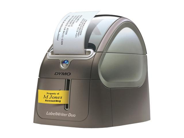 DYMO LabelWriter DUO 69120 Thermal Up to 55 labels/min - Roll (2 3 in) Up  to 23 6 inch/min - Roll (1 in) 300 dpi Label Printers - Newegg com