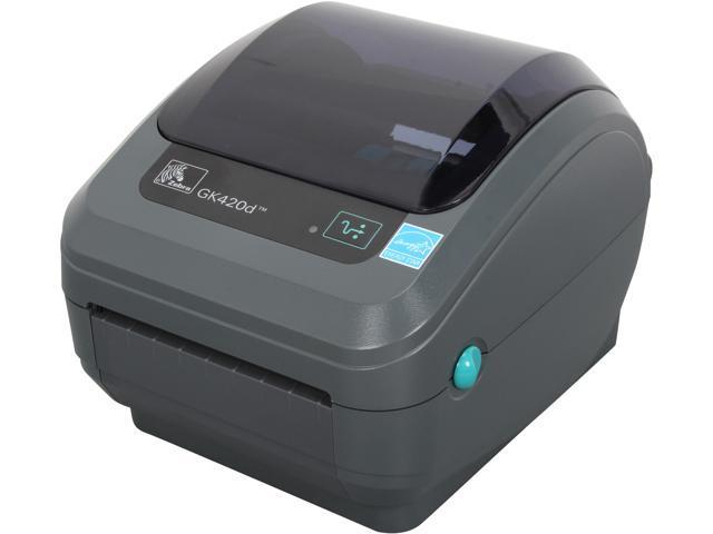 Zebra Gk420d Desktop Direct Thermal Label Printer Gray Gk42 202210 000