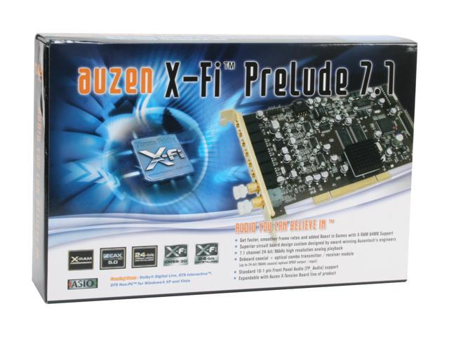 AUZEN Auzen X-Fi Prelude 7.1 7.1 Channels PCI Interface Sound Card