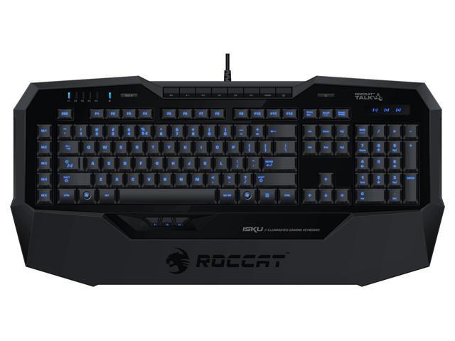 7ede97b3353 ROCCAT ISKU Illuminated Gaming Keyboard, Black - Newegg.com