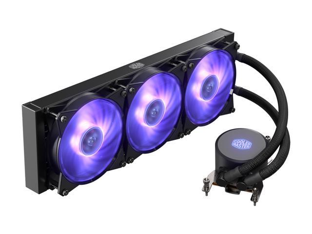 Cooler Master MasterLiquid ML360 RGB AIO CPU Liquid Cooler Thread Ripper  TR4 Triple 120mm RGB Air Balance MF - Newegg com