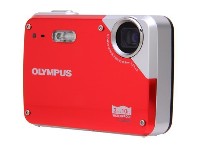 OLYMPUS X 560WP Red 100 MP 3X Optical Zoom Waterproof Digital Camera