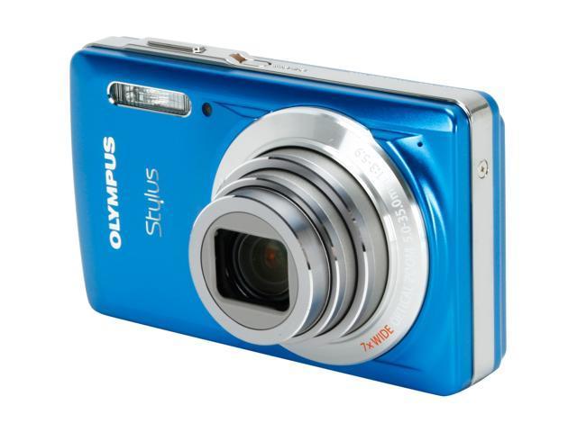 olympus stylus 7030 blue 14 mp 7x optical zoom 28mm wide angle rh newegg com Olympus Stylus 35Mm Camera Olympus Stylus 35Mm Camera