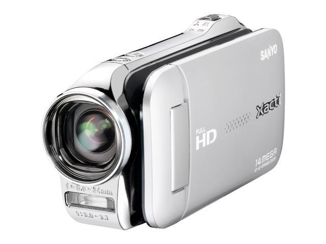 sanyo xacti vpc gh2 silver 2 7 lcd full hd 1080 video and 14mp rh newegg com