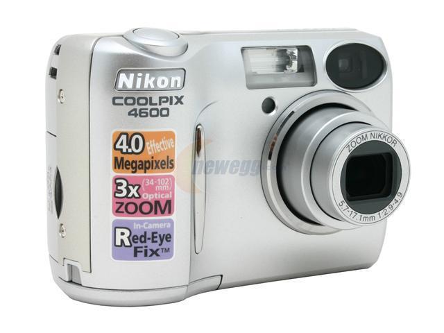 nikon coolpix 4600 silver 4 0mp 3x optical zoom digital camera rh newegg com Nikon Coolpix 3200 Digital Camera Nikon Coolpix S3000
