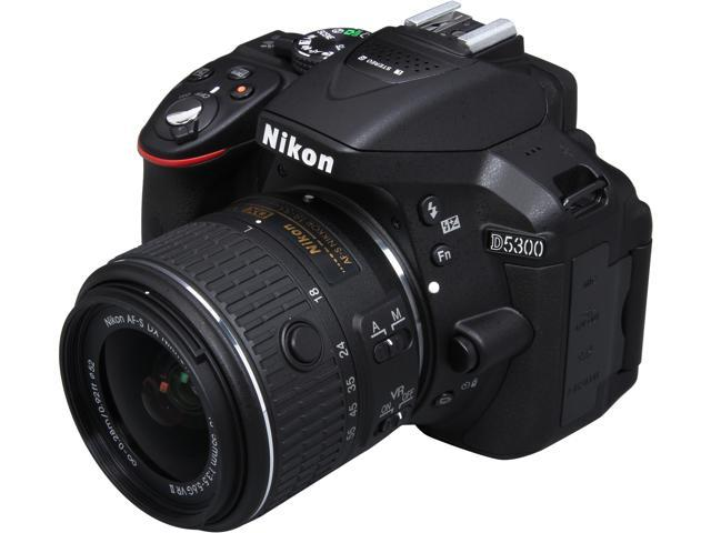 Nikon D5300 1522 Black 242 MP Digital SLR Camera With 18 55mm Lens