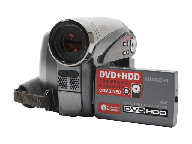 hitachi dz hs500a 1 6 ccd 2 7 lcd 30x optical zoom hdd dvd sd rh newegg com Hitachi DZ-BX37A Camcorder Hitachi VM E55a