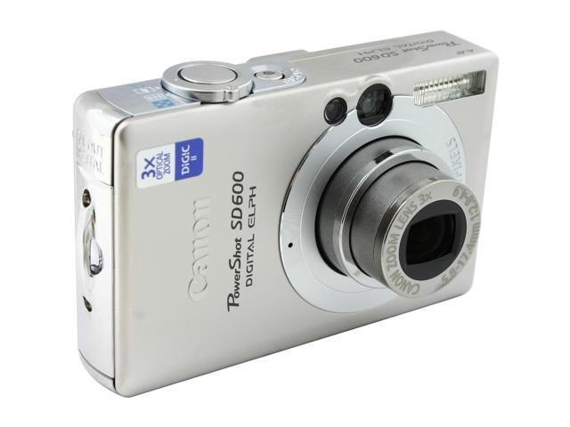 canon powershot sd600 silver 6 0 mp 3x optical zoom digital camera rh newegg com canon powershot sd600 instruction manual Canon SD600 Memory Card