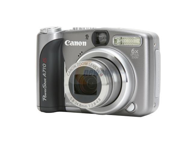 canon powershot a710 is silver 7 1 mp 6x optical zoom digital camera rh newegg com Canon PowerShot A710 ManualDownload canon powershot a710 user manual