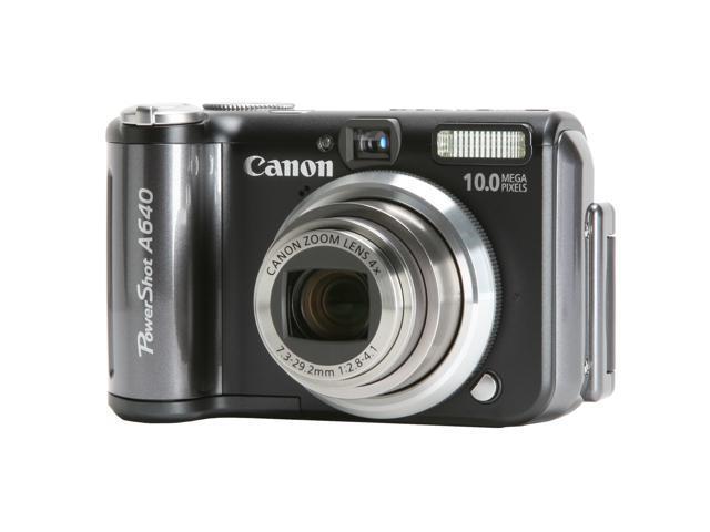 Canon PowerShot A640 Black 10 0 MP 4X Optical Zoom Digital Camera -  Newegg com