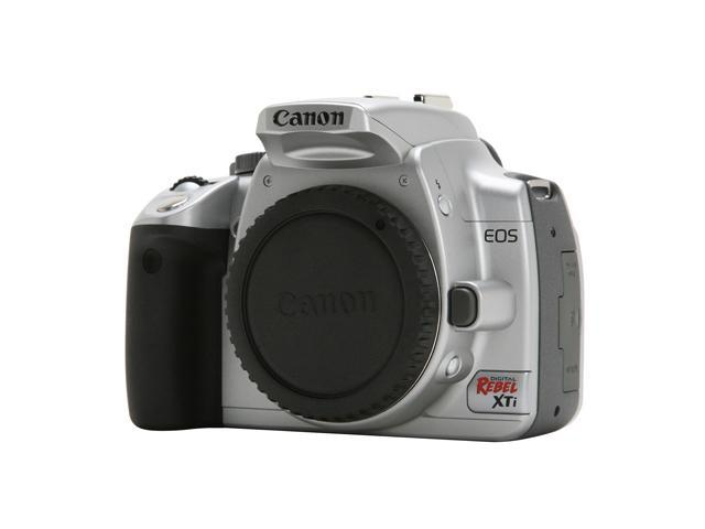 Canon EOS Rebel XTi Silver 10 10 MP Digital SLR Camera - Body Only -  Newegg com