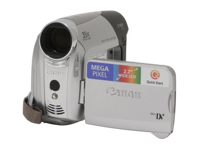 canon zr850 silver 2 7 lcd 35x optical zoom digital camcorder rh newegg com Canon EOS 650 Manual Canon Camera User Manual