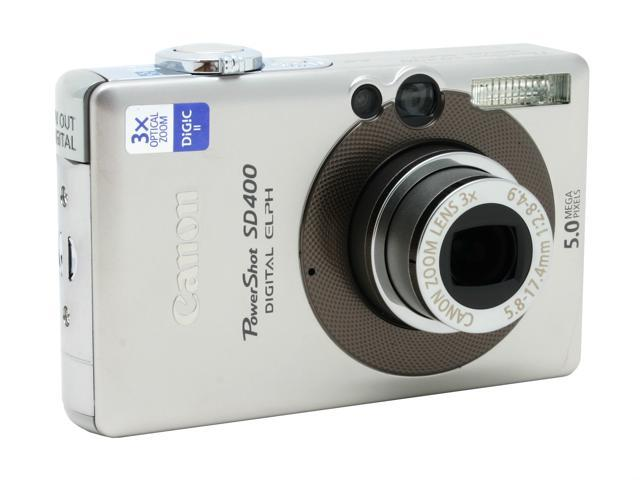 canon powershot sd400 silver 5 0mp 3x optical zoom digital camera rh newegg com canon powershot sd400 user manual Canon SD400 Camera