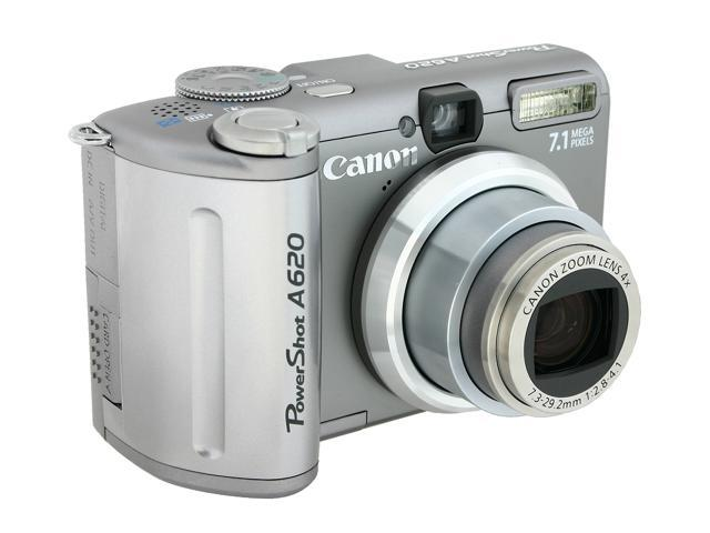 canon powershot a620 silver 7 1 mp 4x optical zoom digital camera rh newegg com canon powershot a620 user manual pdf Canon PowerShot A620 Memory Card