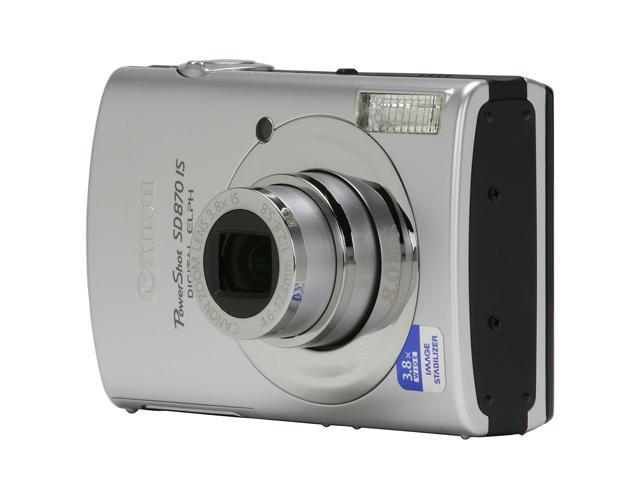 canon powershot sd870 is silver 8 0 mp 3 0 230k lcd 3 8x optical rh newegg com
