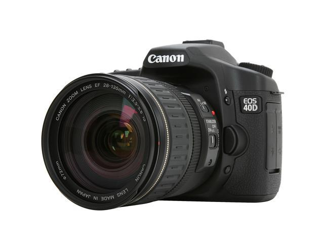 Canon eos 40d black 10 1 mp digital slr camera ef 28 135mm f