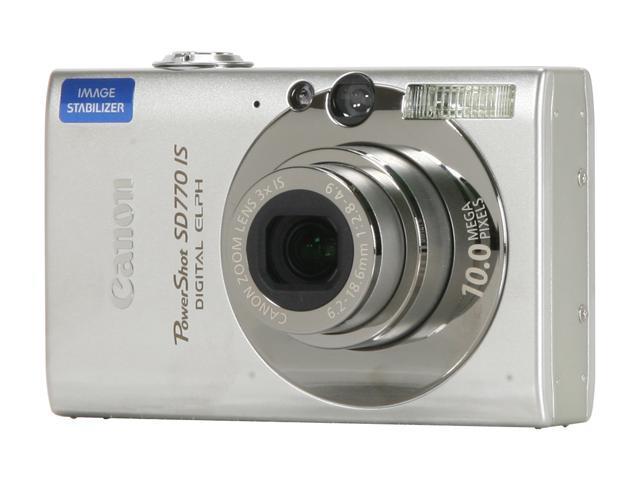 Canon PowerShot SD770 IS Silver 10 MP 3X Optical Zoom Digital Camera -  Newegg com