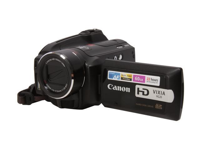 canon vixia hg20 black 1 3 2 cmos 2 7 211k lcd 12x optical zoom rh newegg com Canon A-1 User Manual in Print Canon 7D Manual