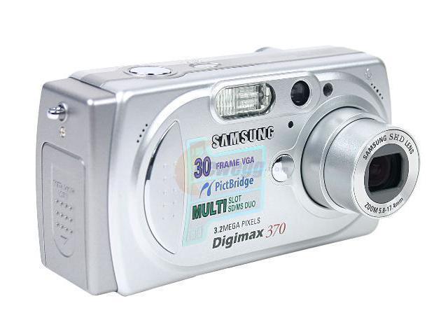 SAMSUNG DIGIMAX-370 Silver 3.2MP 3X Optical Zoom Digital Camera ...