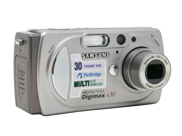 SAMSUNG Digimax 430 Silver 4.0MP 2.8X Optical Zoom Digital Camera ...