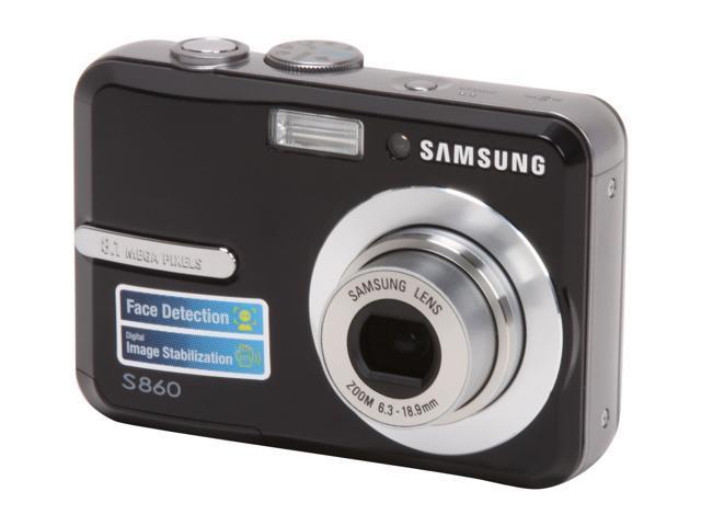 samsung s860 black 8 1 mp 3x optical zoom digital camera newegg com rh newegg com Samsung S860 Camera Driver Samsung Camera User Manual