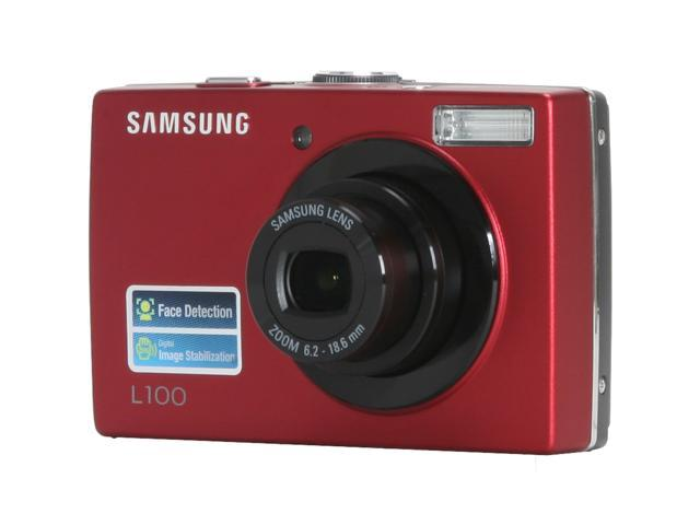 samsung l100 red 8 2 mp 3x optical zoom digital camera newegg com rh newegg com Samsung Camera L100 USB Cable Camera Camera Case for Samsung L100