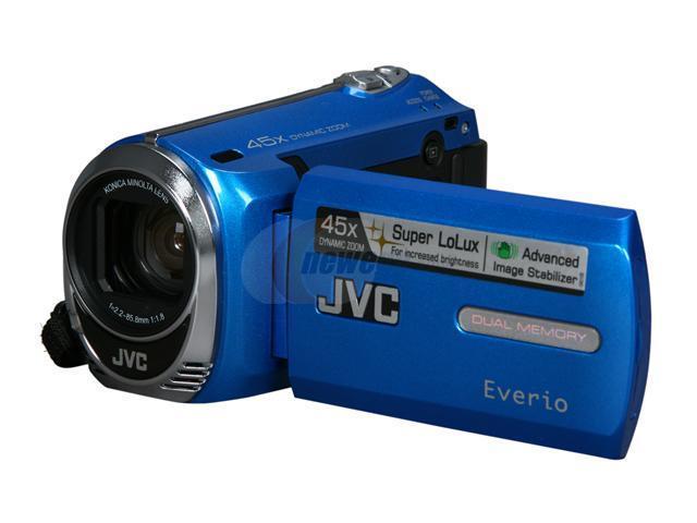 jvc everio gz ms230 blue 1 6 ccd 2 7 lcd 39x optical zoom 8gb rh newegg com