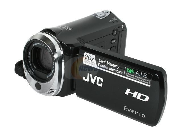 "JVC Everio GZ-HM320 Black 1/5.8"" CMOS 2.7"" LCD 20X Optical Zoom Full HD HDD/Flash Memory Camcorder"