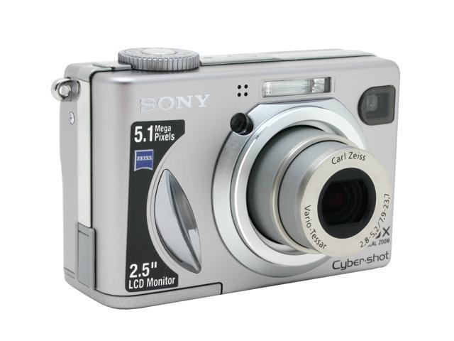 SONY DSC-W5 Silver 5.1MP 3X Optical Zoom Digital Camera