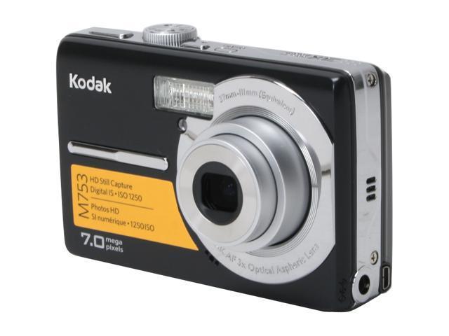 kodak easyshare m753 black 7 0 mp 3x optical zoom digital camera rh newegg com Sony Digital Camera Canon Digital Camera Manual