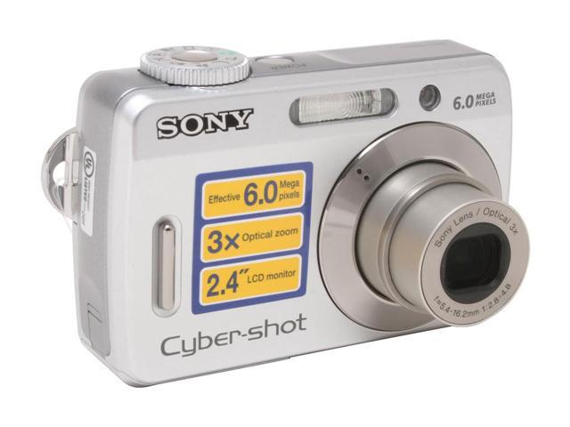 sony dsc s500 silver 6 0 mp 3x optical zoom digital camera newegg com rh newegg com Sony Cyber-shot 8MP Sony Cyber-shot Camera Manual