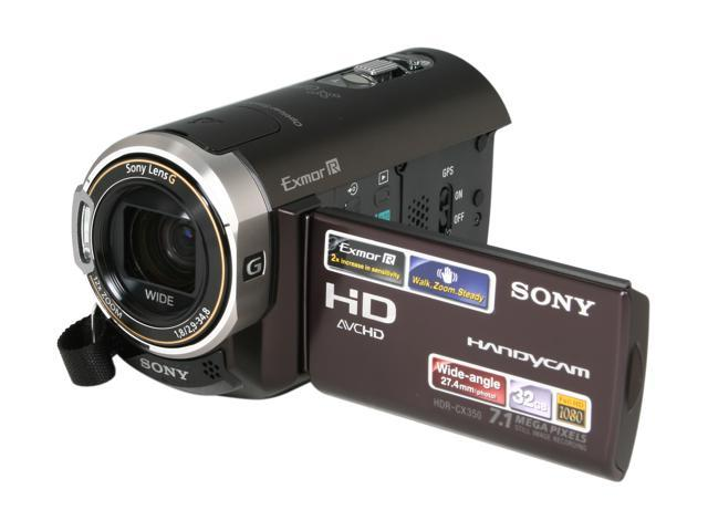 sony hdr cx350v 1 4 exmor r cmos sensor 2 7 230k lcd 12x optical rh newegg com Sony HDR As10 Sony HDR CX3-80