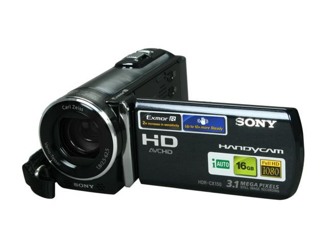 sony hdr cx150 black 1 4 exmor r cmos 2 7 230k lcd 25x optical rh newegg com Sony HDR CX150 Charger Sony Camcorder HDR-CX150