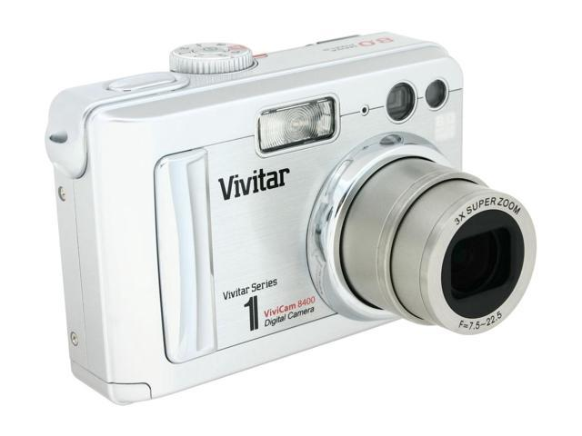 vivitar 8400 silver 8 0 mp 3x optical zoom digital camera newegg com