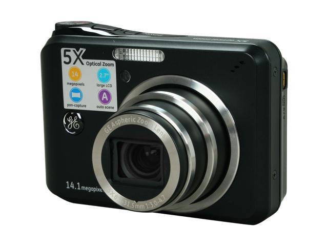 ge a1455 black 14 1 mp 5x optical zoom digital camera newegg com rh newegg com GE A1455 Digital Camera iPad Mini