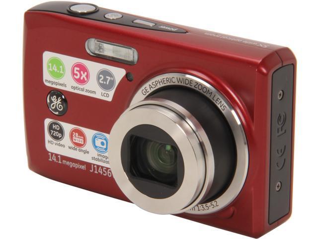ge j1456w red 14 4 mp 5x optical zoom digital camera newegg com rh newegg com GE X600 Digital Camera GE X600 Digital Camera