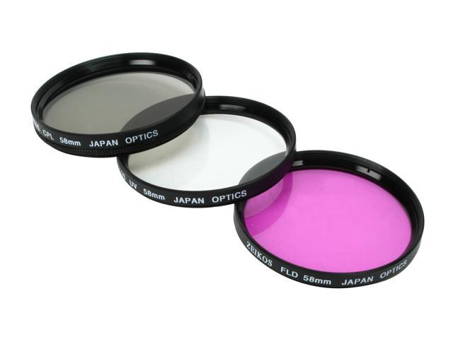 1A Multicoated for Nikon D3000 Multithreaded Glass Filter Haze UV 58mm